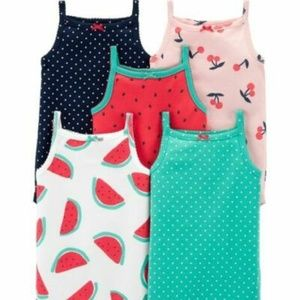 CATER'S baby girl 5-Pack Tank Bodysuits